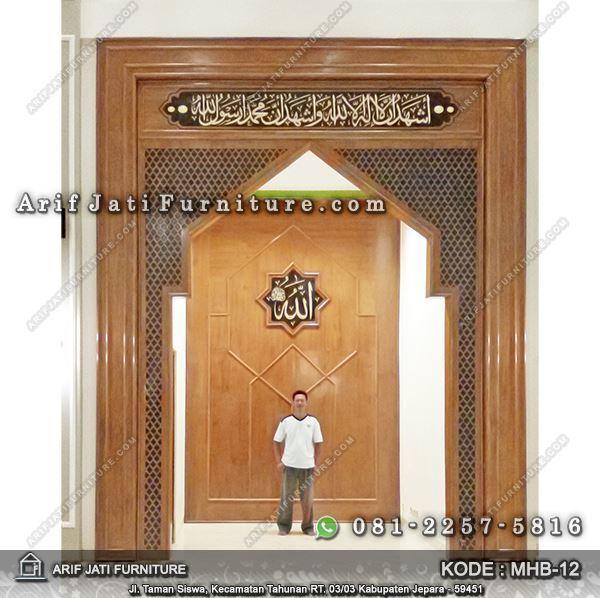 pengimaman masjid minimalis kayu jati
