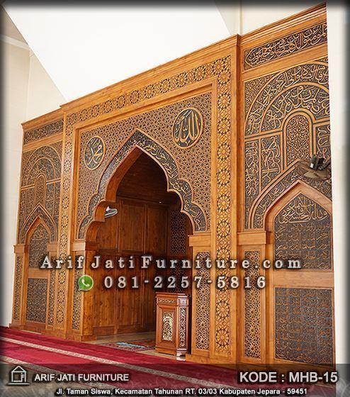 mihrab masjid mewah paling indah