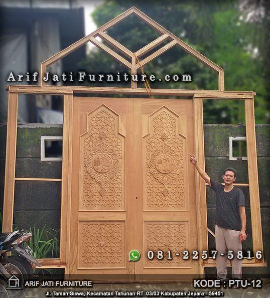 kusen pintu masjid kayu jati tpk