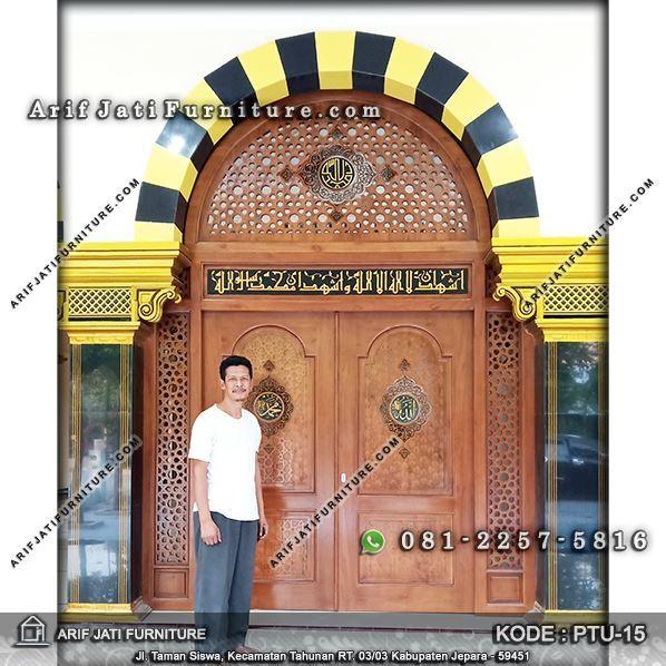 pintu masjid minimalis jati terbaru