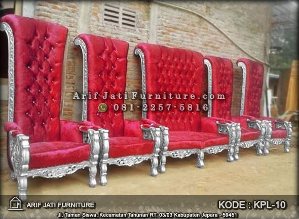 kursi pelaminan bellagio warna merah