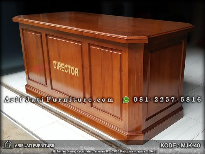meja kerja kayu jati minimalis modern