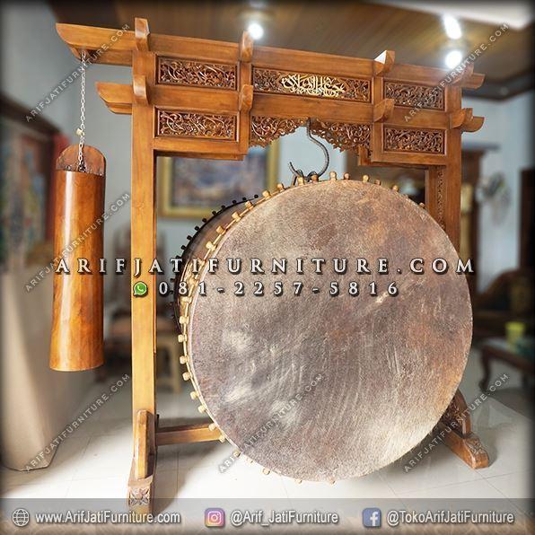 Jual Bedug Masjid Jati Diameter 120 cm