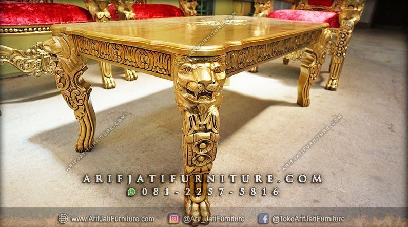 Sofa Kursi Tamu Raja Mewah Warna Emas | ARIF JATI FURNITURE