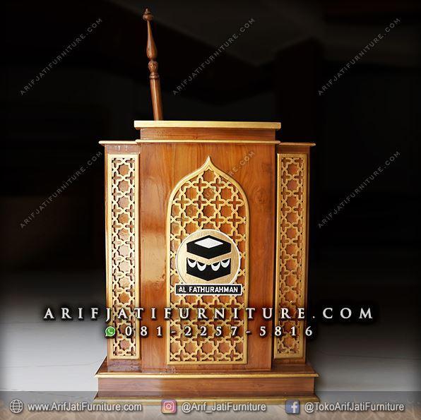 Mimbar Podium Masjid Minimalis Ka'bah