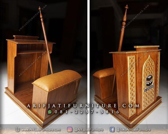 podium masjid minimalis sederhana logo kabah