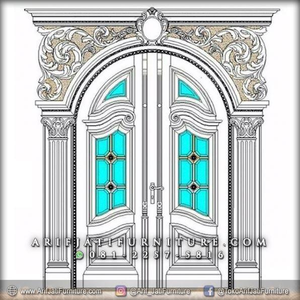 model pintu rumah gaya eropa classic