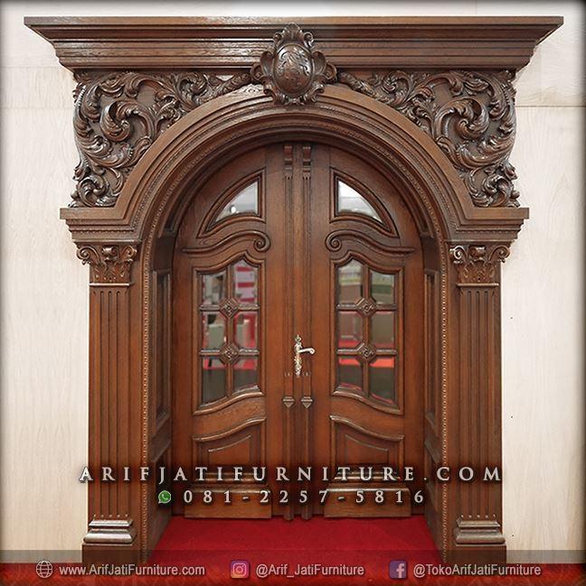 Pintu Rumah Mewah Model Eropa Klasik