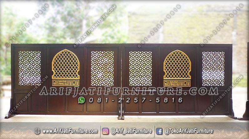 Tabir Masjid Kayu Jati